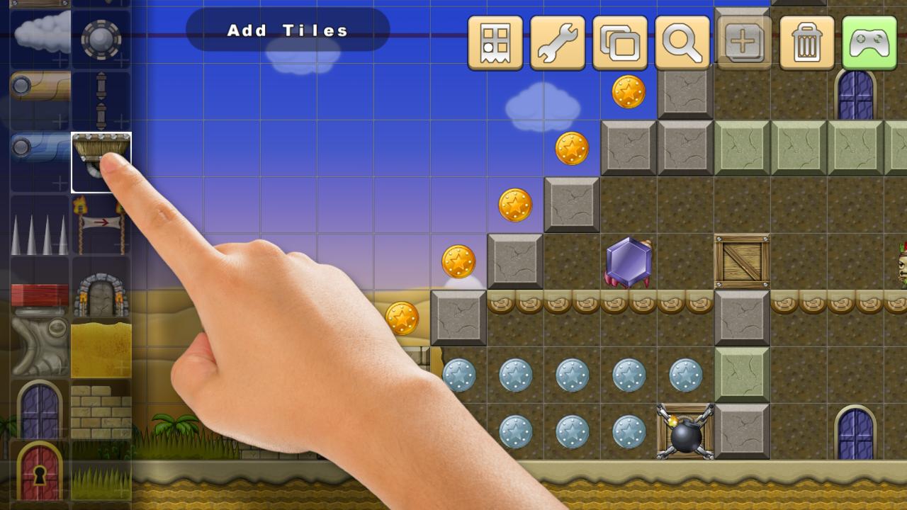 Platform game level editor